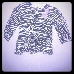 zebra printed long sleeve